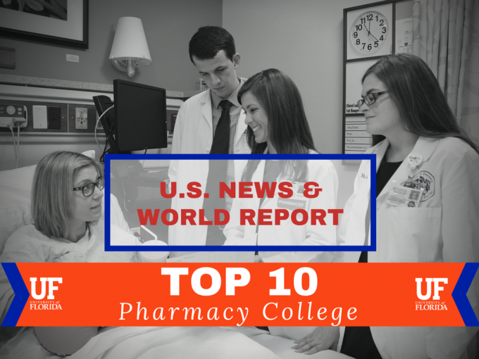 US News ranks UF College of Pharmacy in Top 10